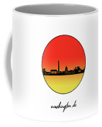 Washington Dc Skyline Minimalism 9 Coffee Mug