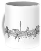 Washington Dc Skyline Music Notes Coffee Mug