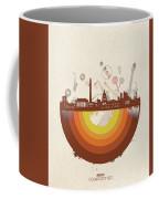 Washington Dc Skyline Retro Coffee Mug