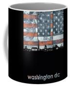 Washington Dc Skyline Usa Flag Coffee Mug