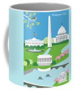 Washington, D.c. Vertical Skyline Coffee Mug
