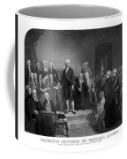 Washington Delivering His Inaugural Address Coffee Mug by War Is Hell Store