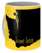 Washington Is Home Base Black Coffee Mug