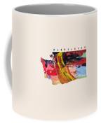 Washington Map Art - Painted Map Of Washington Coffee Mug