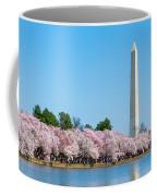 Washington Monument And Cherry Blossoms Coffee Mug