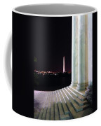 Washington Monument From Stairs Of Jefferson Coffee Mug
