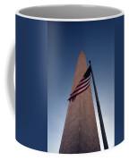 Washington Monument Single Flag Coffee Mug