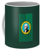 Washington State Flag Graphic Usa Styling Coffee Mug