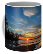 A Delightful Summer Sunset On Lake Waskesiu In Canada Coffee Mug