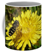 Wasp Visiting Dandelion Coffee Mug