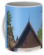 Wat Jed Yod Phra Ubosot Teakwood Gable Dthcm0968 Coffee Mug