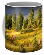 Watching Elk Iv Coffee Mug