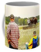 Watching The Man Work The Field Coffee Mug