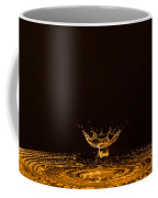 Water Collision Orange Coffee Mug