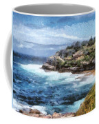 Water Cove With Rocky Cliffs Coffee Mug