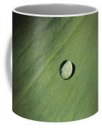 Water Droplet On Green Leaf Coffee Mug
