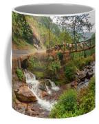 Water Flowing Through Rocks Kukhola Falls Sikkim Coffee Mug