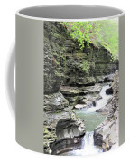 Water Flowing Through The Gorge Coffee Mug