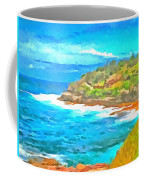 Water Gushing In On A Natural Cove Coffee Mug