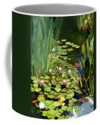 Water Lilies And Koi Pond Coffee Mug