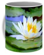 Water Lily - Digital Painting Coffee Mug