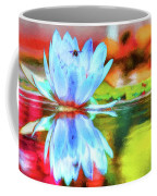 Water Lily And Bee Pastel Coffee Mug