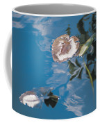 Water Lily Leaves And Reflection Of Clouds In Unknown Lake Coffee Mug