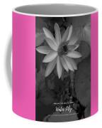 Water Lily Monochrome Coffee Mug