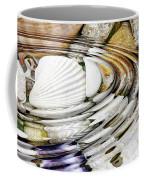 Water Ripples Above Sea Shells Coffee Mug