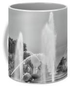 Water Spray - Swann Fountain - Philadelphia In Black And White Coffee Mug
