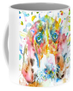 Watercolor Basset Hound Coffee Mug