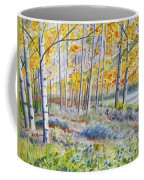 Watercolor - Colorado Autumn Forest And Landscape Coffee Mug