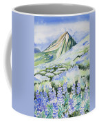 Watercolor - Crested Butte Lupine Landscape Coffee Mug by Cascade Colors