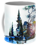 Watercolor Forest And Pond Coffee Mug