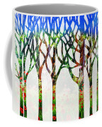 Watercolor Forest Silhouette Summer Coffee Mug