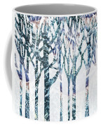 Watercolor Forest Silhouette Winter Coffee Mug