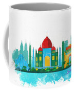 Watercolor Illustration Of Delhi Coffee Mug