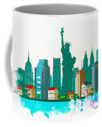 Watercolor Illustration Of New York Coffee Mug
