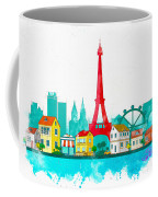 Watercolor Illustration Of Paris Coffee Mug