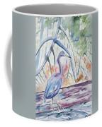 Watercolor - Little Blue Heron In Mangrove Forest Coffee Mug