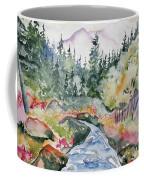 Watercolor - Long's Peak Autumn Landscape Coffee Mug