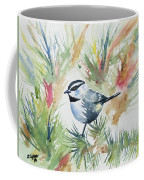 Watercolor - Mountain Chickadee And Pine Coffee Mug