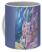 Watercolor - Mountain Goat With Young Coffee Mug