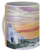 Watercolor - Mykonos Sunset Coffee Mug