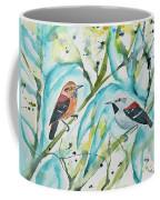 Watercolor - Ornate Antwren In The Bamboo Coffee Mug