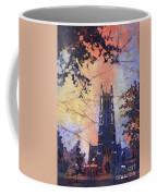 Watercolor Painting Of Duke Chapel On The Duke University Campus Coffee Mug