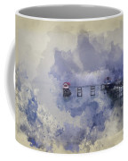 Watercolor Painting Of Landscape Of Victorian Pier With Moody Sk Coffee Mug