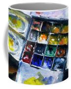Watercolor Pallet Coffee Mug