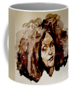 Watercolor Portrait Of A Woman With Bad Hair Day Coffee Mug