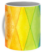 Watercolor Rainbow Pattern Geometric Shapes Triangles Coffee Mug